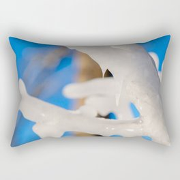 Abstract Of Ice-Covered Tree Rectangular Pillow