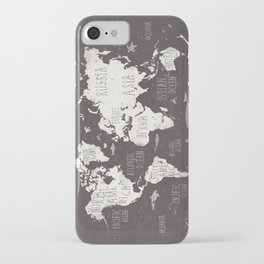 The World Map iPhone Case