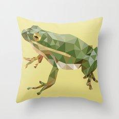 Geometric Frog Throw Pillow