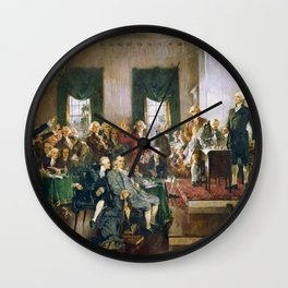 The Signing of the Constitution of the United States - Howard Chandler Christy Wall Clock