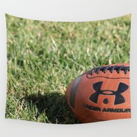 football Wall Tapestries featuring Football by Images by Danielle