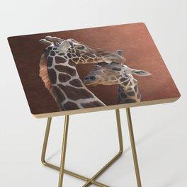 Endearing Giraffes Side Table
