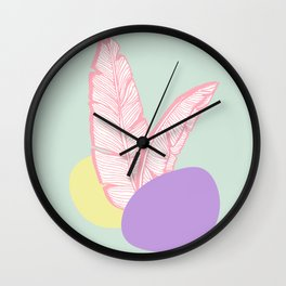 Candy Leaves #society6 #spring Wall Clock