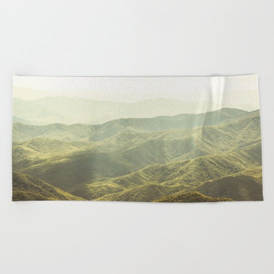 Smoky Mountain Sunshine Beach Towel