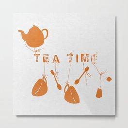 Orange Tea Time II Metal Print