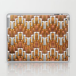 Angular Wave - Copper and Silver - Classic Vintage Art Deco Pattern Laptop & iPad Skin