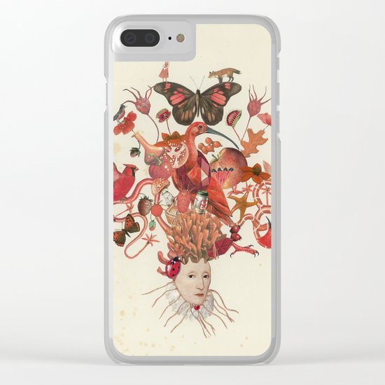 Red Head II Clear iPhone Case