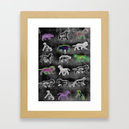 Directional Animals Framed Art Print