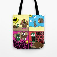 thanksgiving Tote Bags featuring Thanksgiving by Chris Piascik