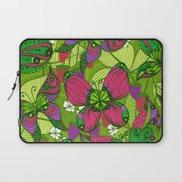 Hand Drawn Butterfly Pattern 04 Laptop Sleeve