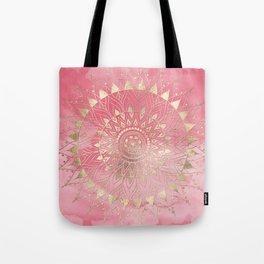 Modern  gold mandala Tote Bag