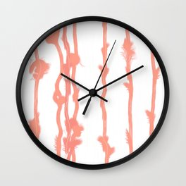 Fluffy lines twisting and turning no. 24 Wall Clock