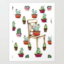 Cactus Illustration, Home Decor, Duvet Cover, Poster for Kitchen Art Print