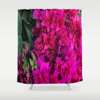 fireworks Shower Curtains featuring FIREWORKS by BigBlacksBook