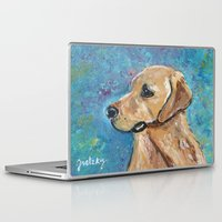 lab Laptop & iPad Skins featuring Yellow Lab by gretzky