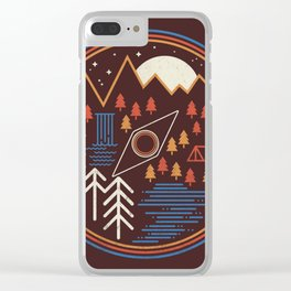Call of the wild / Geometric nature / Camping / The great outdoors / Deer / woods Clear iPhone Case