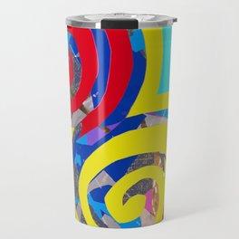 Aqua Swirling Colortime Explosion Travel Mug