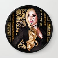 versace Wall Clocks featuring Mother Monster - Versace by Denda Reloaded