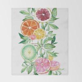 Citrus Fruit Throw Blanket
