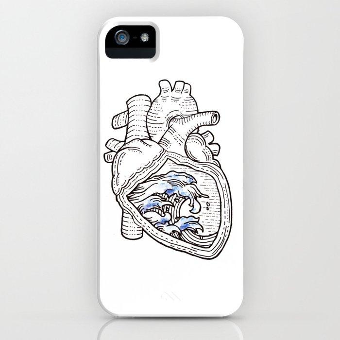 Ocean heart | Retro waves iPhone Case