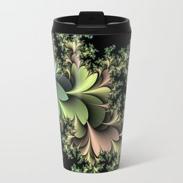 Kale Leaves Fractal Travel Mug