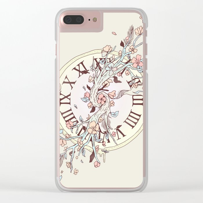 Blossoming Passage Clear iPhone Case