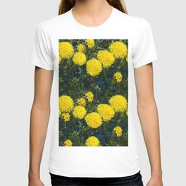 LOVE FIRST SPRING YELLOW DANDELIONS T-shirt