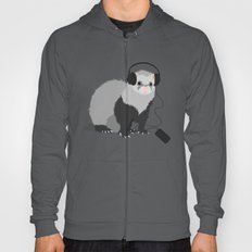 Music Loving Ferret Hoody