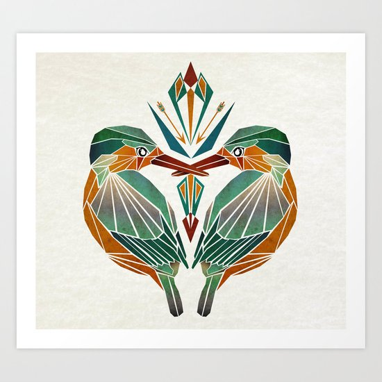 little birds  Art Print