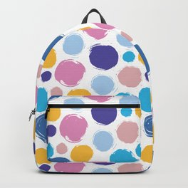 Colorful ink dots Backpack