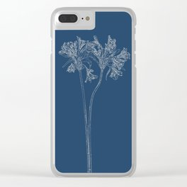 Parrot Lily Blueprint Clear iPhone Case