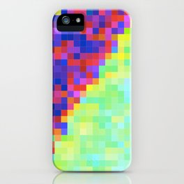 Bright pixel glitch iPhone Case