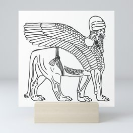 The Lamassu of Nineveh Mini Art Print