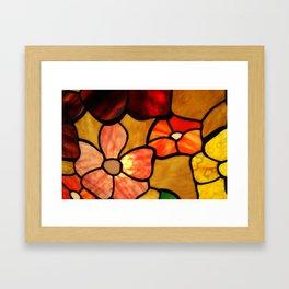 Vintage Mosaic Lamp Glass Colorful  Framed Art Print