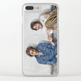 John and Paul get away from it all Clear iPhone Case