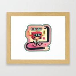 Sorcier mécanique Framed Art Print