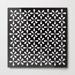 Geometric Pattern 128 (Asterisks) Metal Print