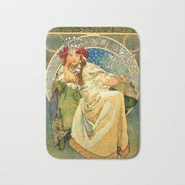 "Alphonse Mucha  ""Princess Hyacinth"" Bath Mat"