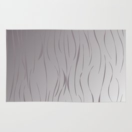 wild design exotic lines Silver Rug