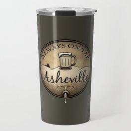 Asheville Beer - Always On Tap - AVL 22 Grunge Dark Brown Travel Mug