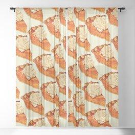 Pumpkin Pie Pattern Sheer Curtain