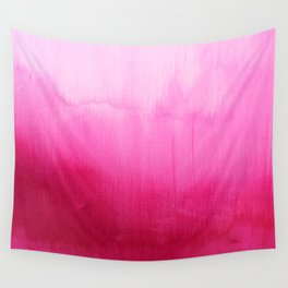 Modern fuchsia watercolor paint brushtrokes Wall Tapestry