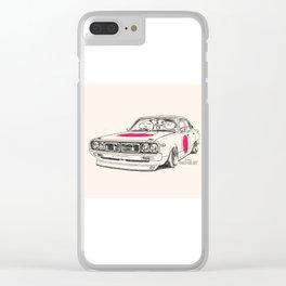 Crazy Car Art 0166 Clear iPhone Case