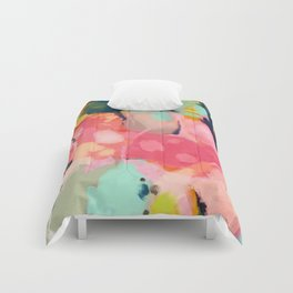 spring moon earth garden Comforters