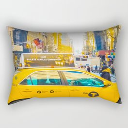 Colors of New York City Downtown Manhattan Rectangular Pillow
