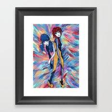 Unicorns and Lollipops Framed Art Print
