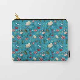 Beach and underwater pattern - fish and turtles and sea shells, oh my! Carry-All Pouch