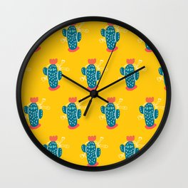 Walking Cactus Wall Clock