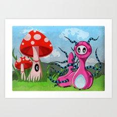Kate'rpillar Art Print