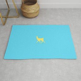 Drama Llama Blue & Yellow Rug